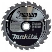 Makita 165x20mm TCT Efficut Cordless Circular Saw Blade - 25 Teeth (B-62979)